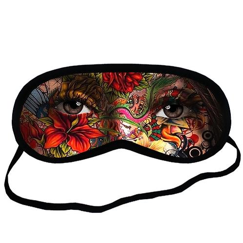 EYMt1659 Face Fantasy Abstract Woman Eye Eye Printed Sleeping Mask