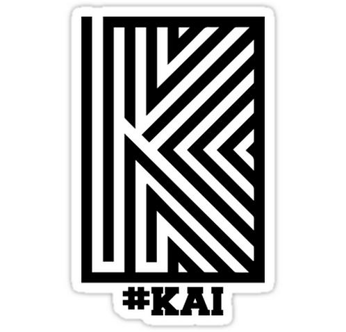 EXO Kai 'Overdose' Logo SSTK092 K-Pop Music Brand Car Window Decal Sticker