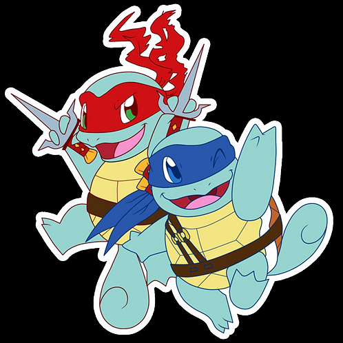 Anime Sticker Laptop Helmet Car Truck Motorcycle Bumper Wall NS5 Ninja Squirtle