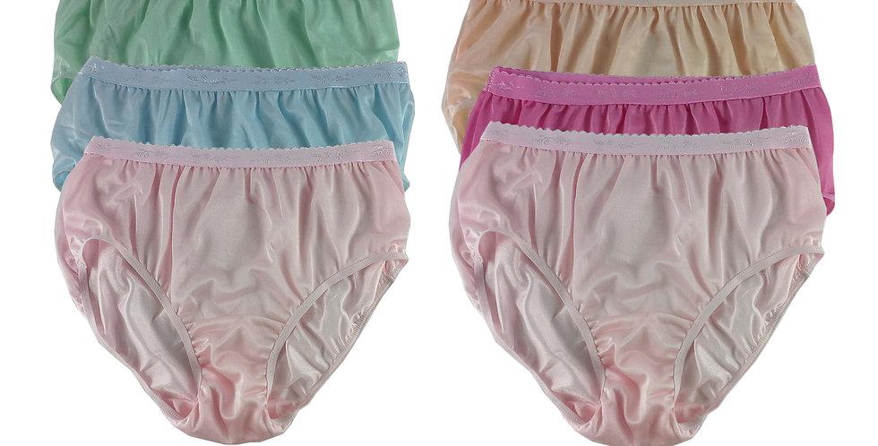 CKSL21 Lots 6 pcs Wholesale New Nylon Panties Women Undies Briefs