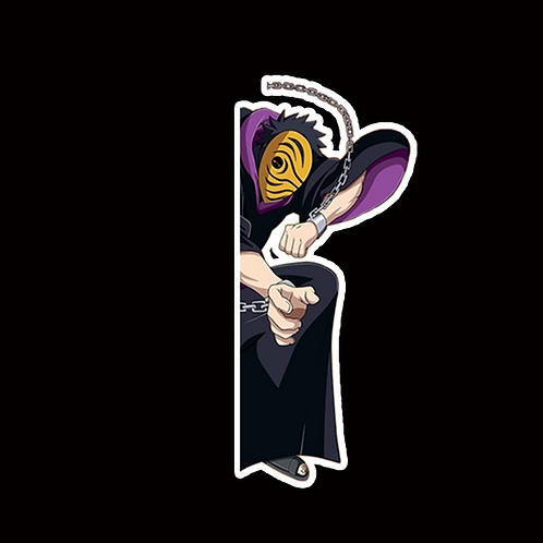 NOR199 Obito Uchiha Naruto Peeking anime sticker Car Decal Vinyl Window