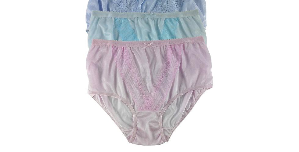 NLTH05 Lots 3 pcs Wholesale Panties Granny Lace Briefs Nylon Men Woman