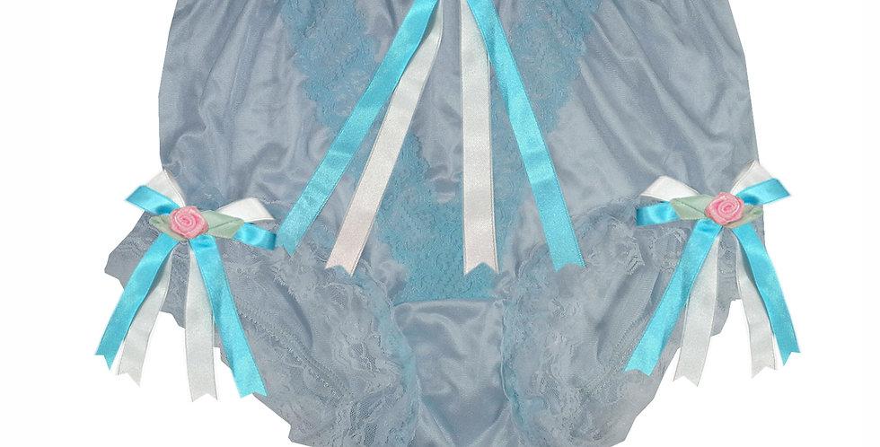 NLH22D05 Blue New Panties Granny Lace Briefs Nylon Handmade  Men