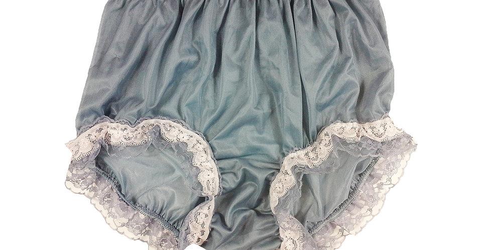 NNH05D05 Gray Grey Handmade Panties Lace Women Men Briefs Nylon Knickers
