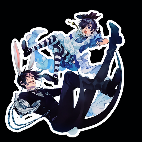 Anime Stickers Die-cut Car motorcycle laptops phone Truck wall BB39 Black Butler