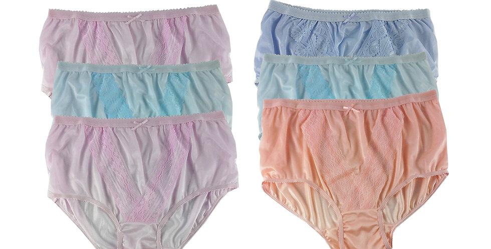NLSG63 Lots 6 pcs Wholesale New Panties Granny Briefs Nylon Men Women