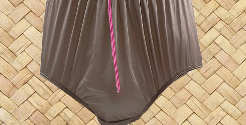 NQH03D10 khaki Zipper New Panties Granny Briefs Nylon Handmade Lace Men