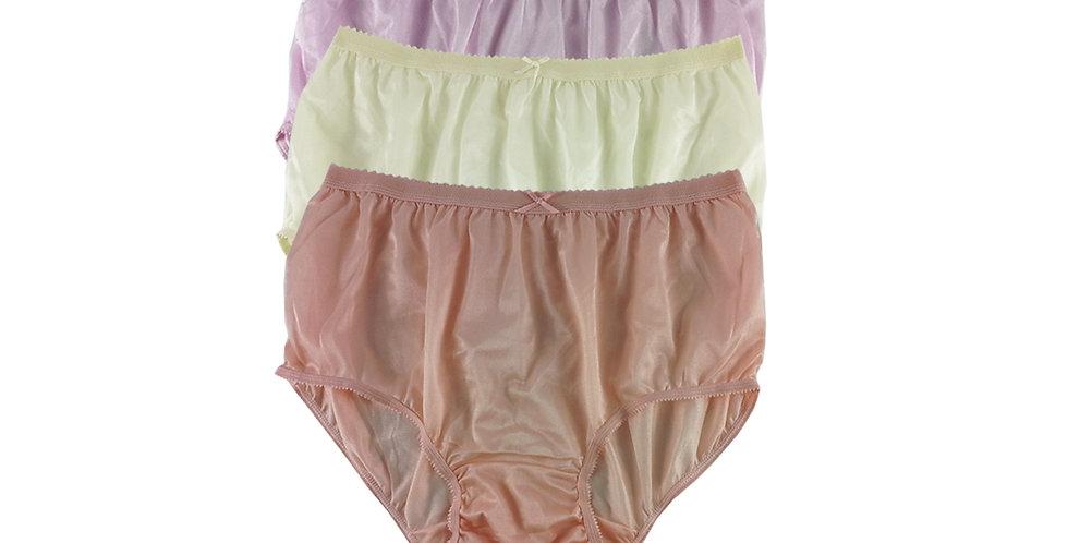 NYTF08 Lots 3 pcs New Panties Wholesale Briefs Silky Nylon Men Women