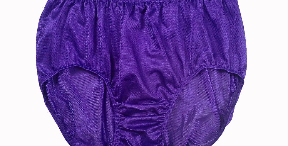 JR12 Light Purple Half Briefs Nylon Panties Women Men Knickers