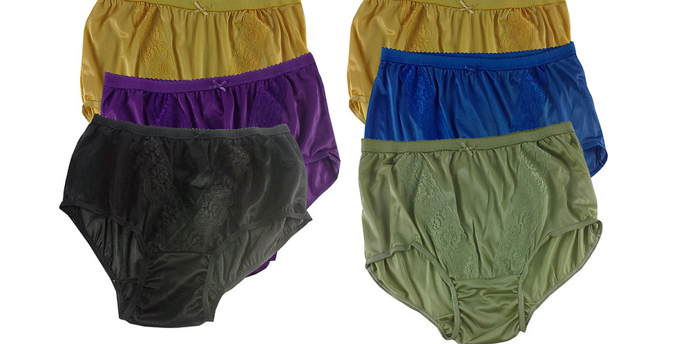 KJSJ32 Lots 6 pcs Wholesale New Panties Granny Briefs Nylon Men Women