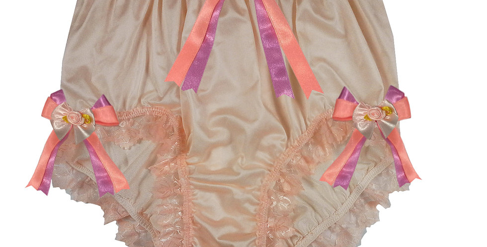NQH11D02 orange Handmade Panties Lace Women Men Briefs Nylon Knickers