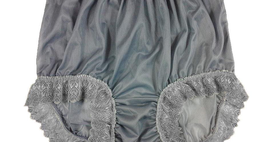 NNH04D24 grey gray Handmade Panties Lace Women Men Briefs Nylon Knickers
