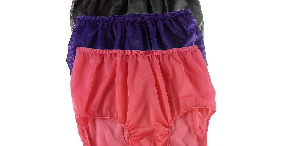 A13 Lots 3 pcs Wholesale Women New Panties Granny Briefs Nylon Knickers