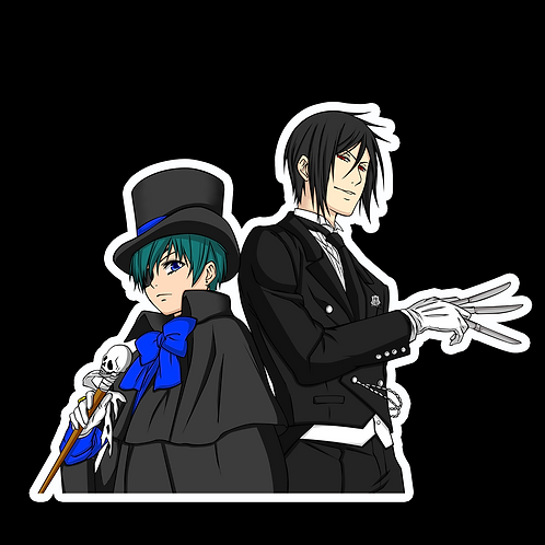 Anime Stickers Die-cut Car motorcycle laptops phone Truck wall BB2 Black Butler