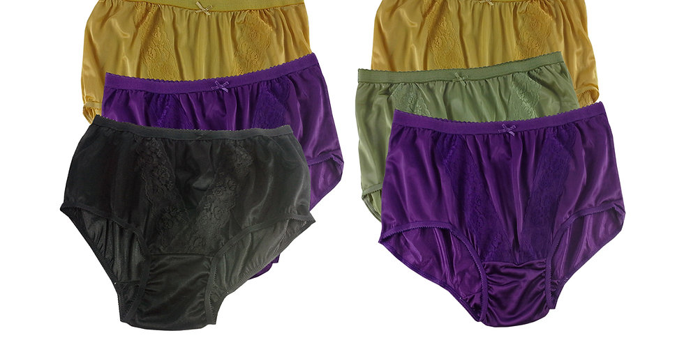 KJSJ28 Lots 6 pcs Wholesale New Panties Granny Briefs Nylon Men Women