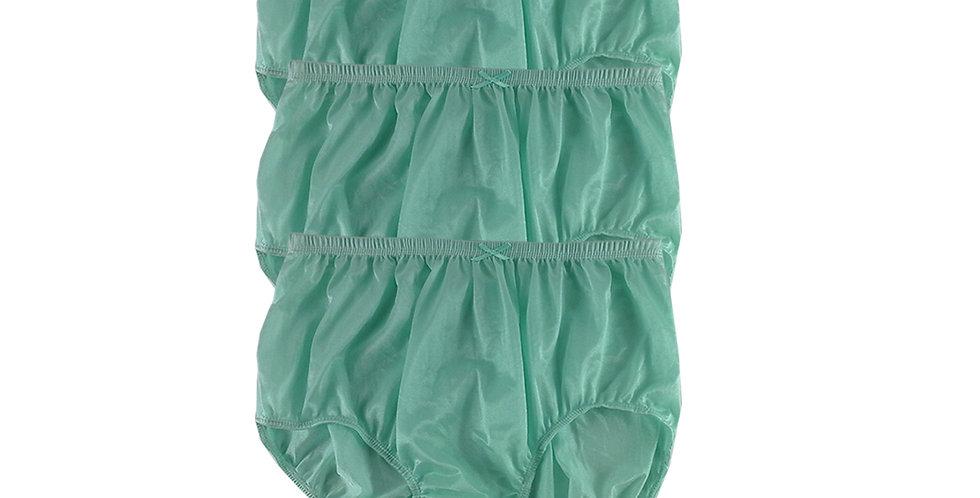 NQT05 green Lot 3 pcs Wholesale New Panties Granny Briefs Nylon Men Women