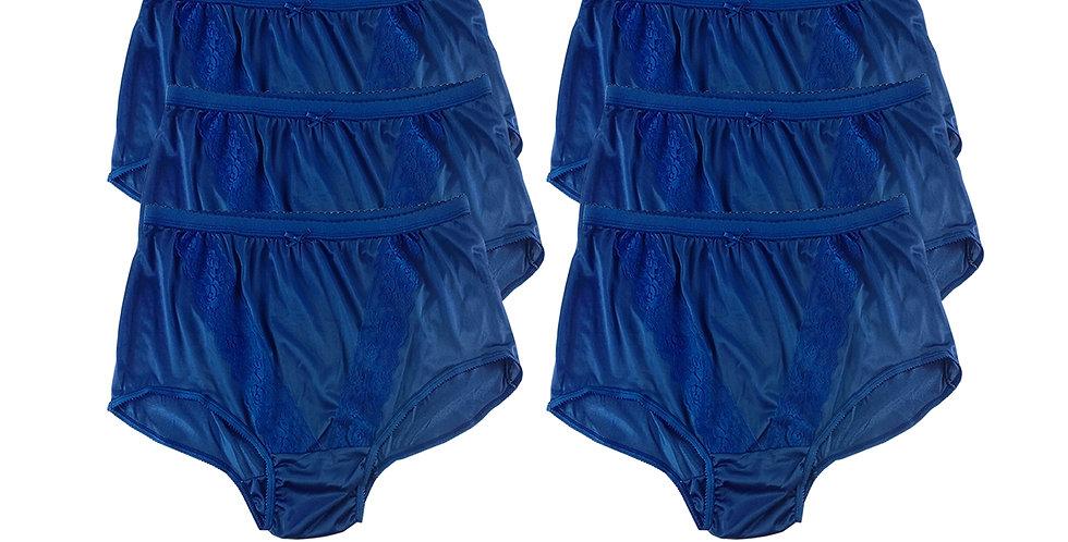KJS NAVY BLUE Lots 6 pcs Wholesale New Panties Granny Briefs Nylon Men Women