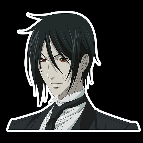 Anime Stickers Die-cut Car motorcycle laptops phone Truck wall BB5 Black Butler