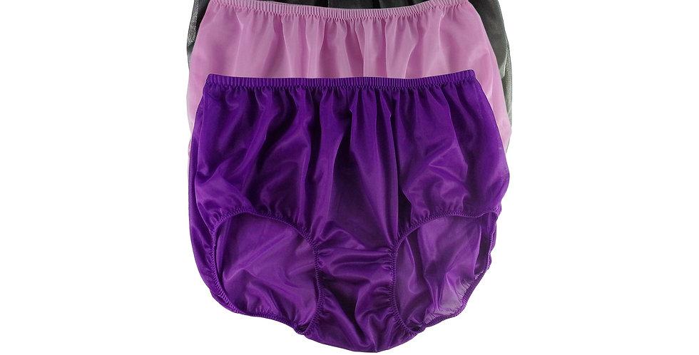 A132 Lots 3 pcs Wholesale Women New Panties Granny Briefs Nylon Knickers