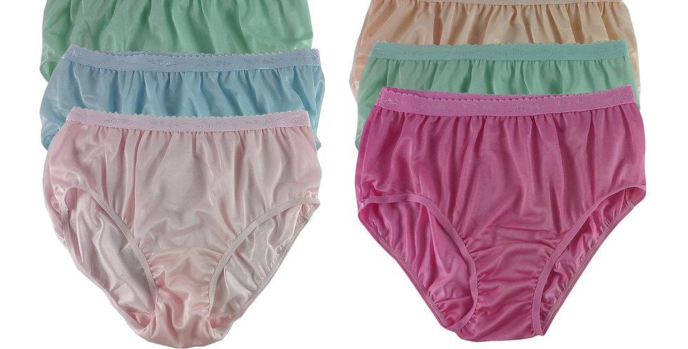CKSL25 Lots 6 pcs Wholesale New Nylon Panties Women Undies Briefs