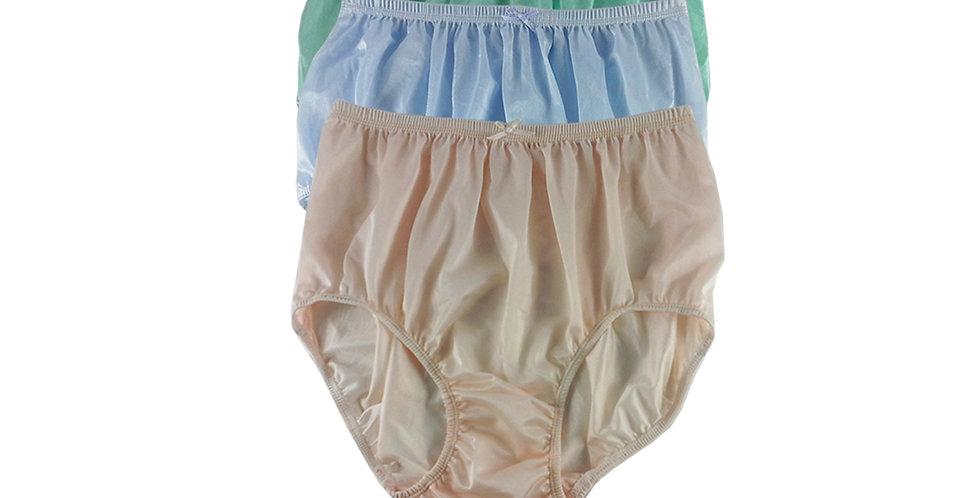NQTD06 Lot 3 pcs Wholesale New Panties Granny Briefs Nylon Men Women