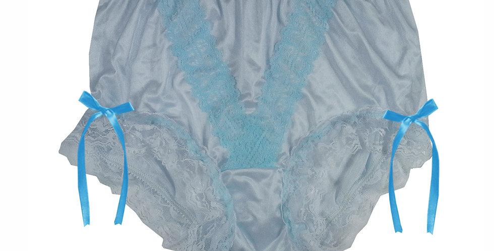 NLH21D02 Blue New Panties Granny Lace Briefs Nylon Handmade  Men