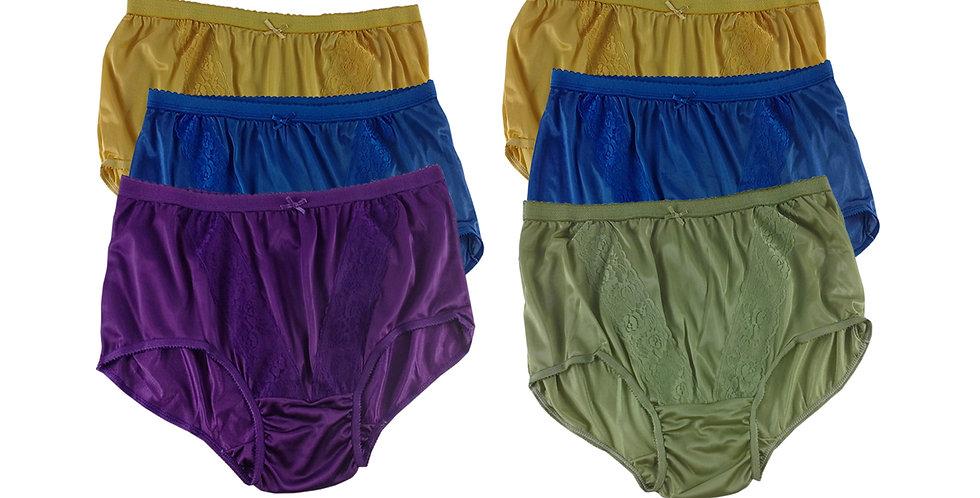 KJSJ60 Lots 6 pcs Wholesale New Panties Granny Briefs Nylon Men Women