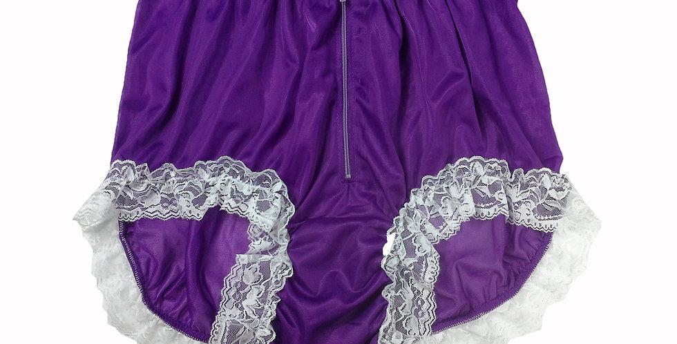 NNH09D01 Light Purple Handmade Panties Lace Women Men Briefs Nylon Knickers