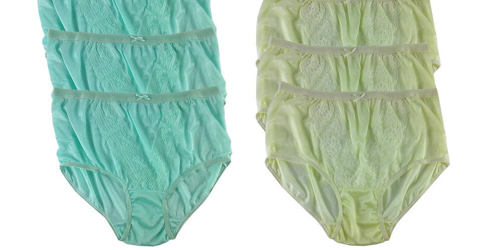 NLSG09 Lots 6 pcs Wholesale New Panties Granny Briefs Nylon Men Women