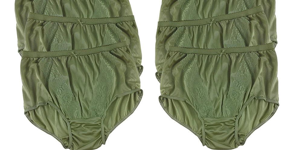 KJS OLIVE GREEN Lots 6 pcs Wholesale New Panties Granny Briefs Nylon Men Women
