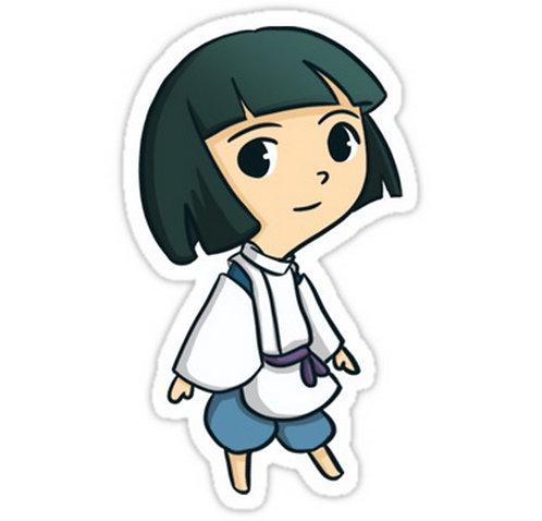 SRBB0719 Haku (Spirited Away) anime sticker