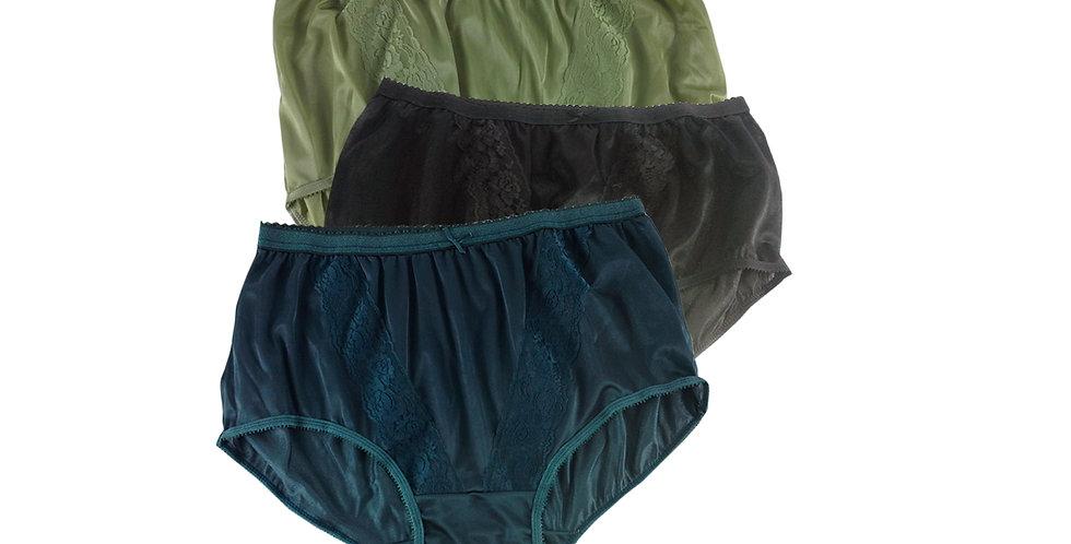 KJTK10 Lots 3 pcs Wholesal Panties Granny Lace Briefs Nylon Men Woman