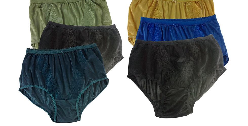 KJSJ21 Lots 6 pcs Wholesale New Panties Granny Briefs Nylon Men Women