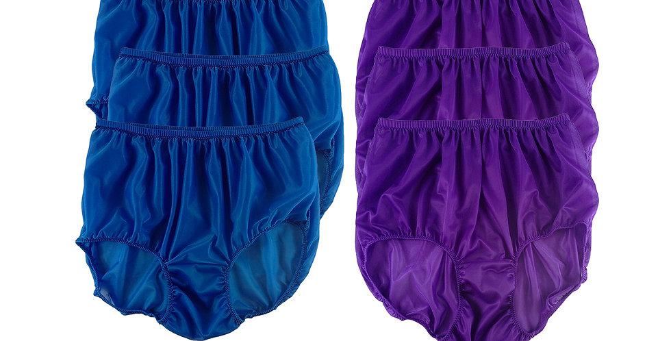 NSD102Lots 6 pcs Wholesale Women New Panties Granny Briefs Nylon Lingerie