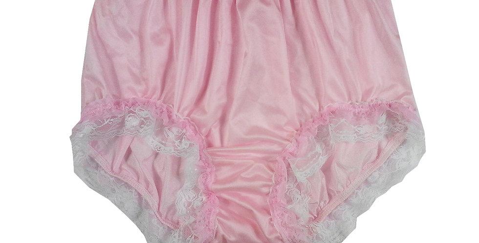 NQH05D02 Pink New Panties Granny Briefs Nylon Handmade Lace Men