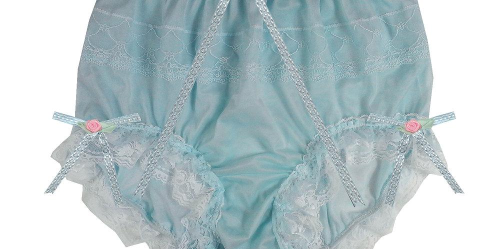 JYH22D31 Blue Handmade Nylon Panties Women Men Lace Knickers Briefs