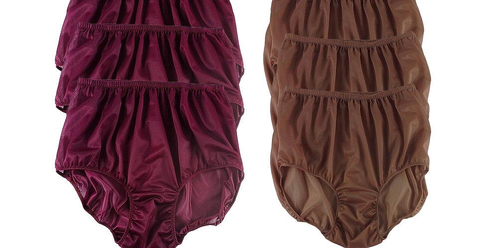NSD60Lots 6 pcs Wholesale Women New Panties Granny Briefs Nylon Lingerie