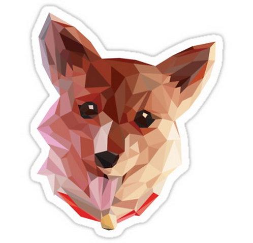 SRBB0743 Ein the Corgi anime sticker