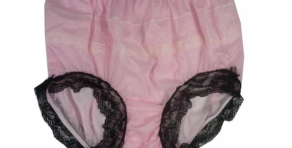 JYH07D03 Pink Handmade Nylon Panties Women Men Lace Knickers Briefs