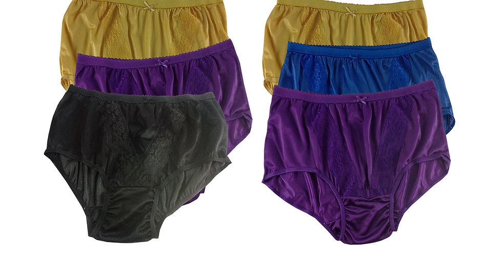 KJSJ31 Lots 6 pcs Wholesale New Panties Granny Briefs Nylon Men Women