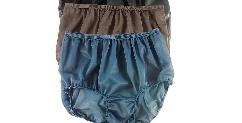 A49 Lots 3 pcs Wholesale Women New Panties Granny Briefs Nylon Knickers