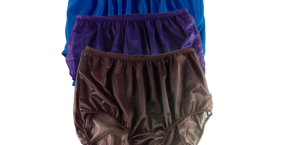 A37 Lots 3 pcs Wholesale Women New Panties Granny Briefs Nylon Knickers