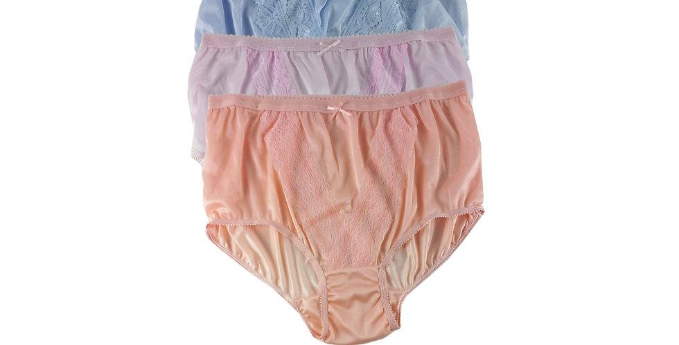 NLTH08 Lots 3 pcs Wholesale Panties Granny Lace Briefs Nylon Men Woman