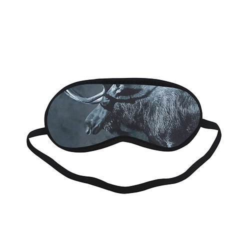 ATEM318 Black moose Eye Printed Sleeping Mask