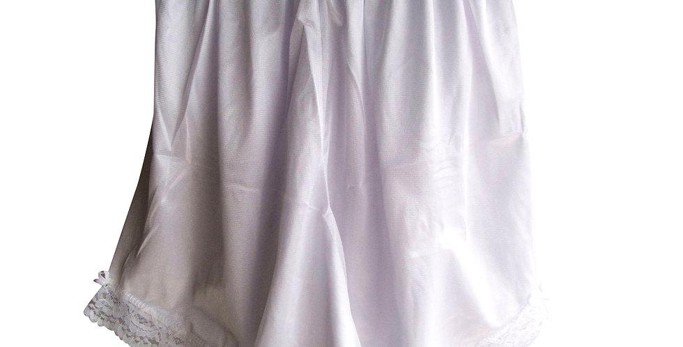 New White Nylon Pettipants Shorts Underwear Women Men Half Slips Lacy SLO04
