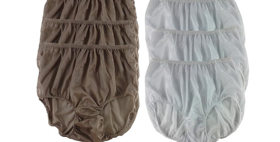 NSD97Lots 6 pcs Wholesale Women New Panties Granny Briefs Nylon Lingerie