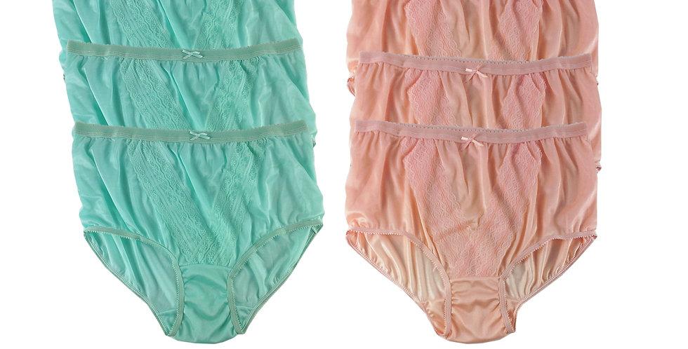 NLSG08 Lots 6 pcs Wholesale New Panties Granny Briefs Nylon Men Women