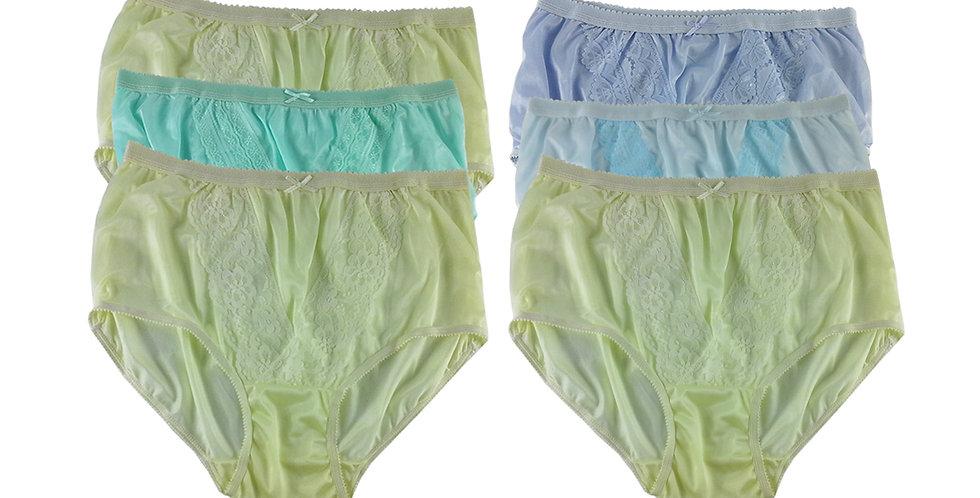 NLSG45 Lots 6 pcs Wholesale New Panties Granny Briefs Nylon Men Women