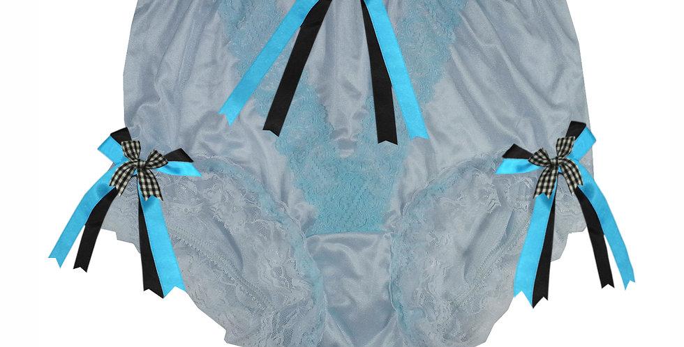 NLH22D04 Blue New Panties Granny Lace Briefs Nylon Handmade  Men