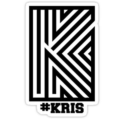 EXO Kris 'Overdose' Logo SSTK093 K-Pop Music Brand Car Window Decal